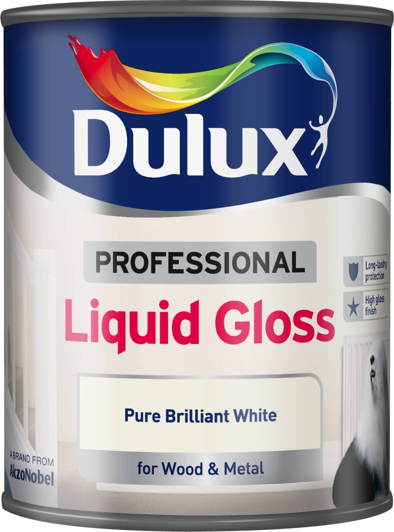Compare prices for Dulux Professional Liquid Gloss Paint - Brilliant White - 750ml