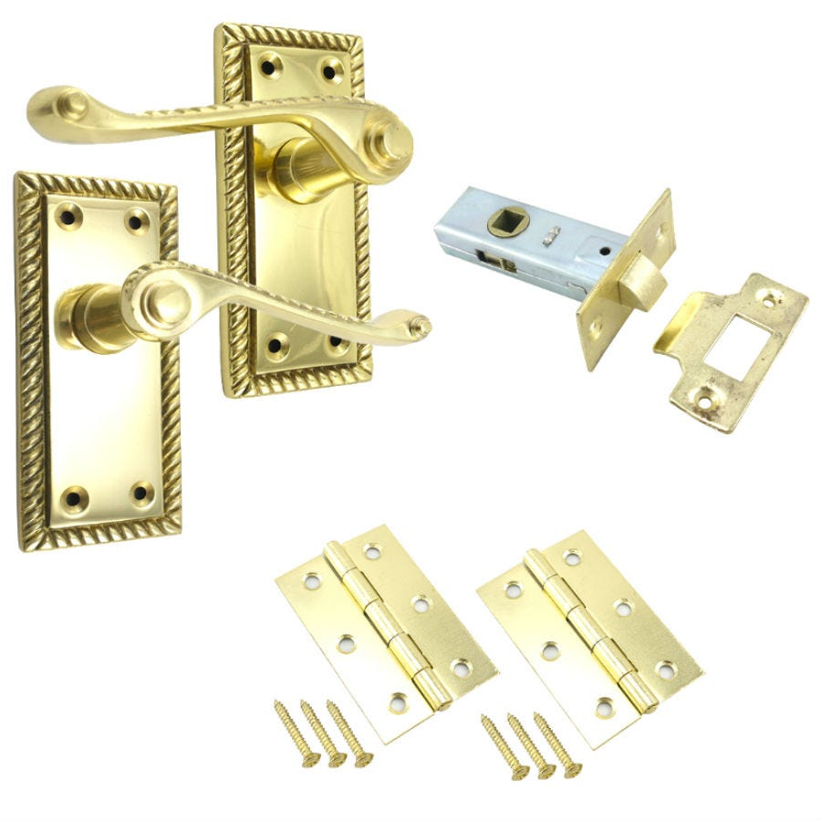 Select Hardware 100mm Georgian Lock Set