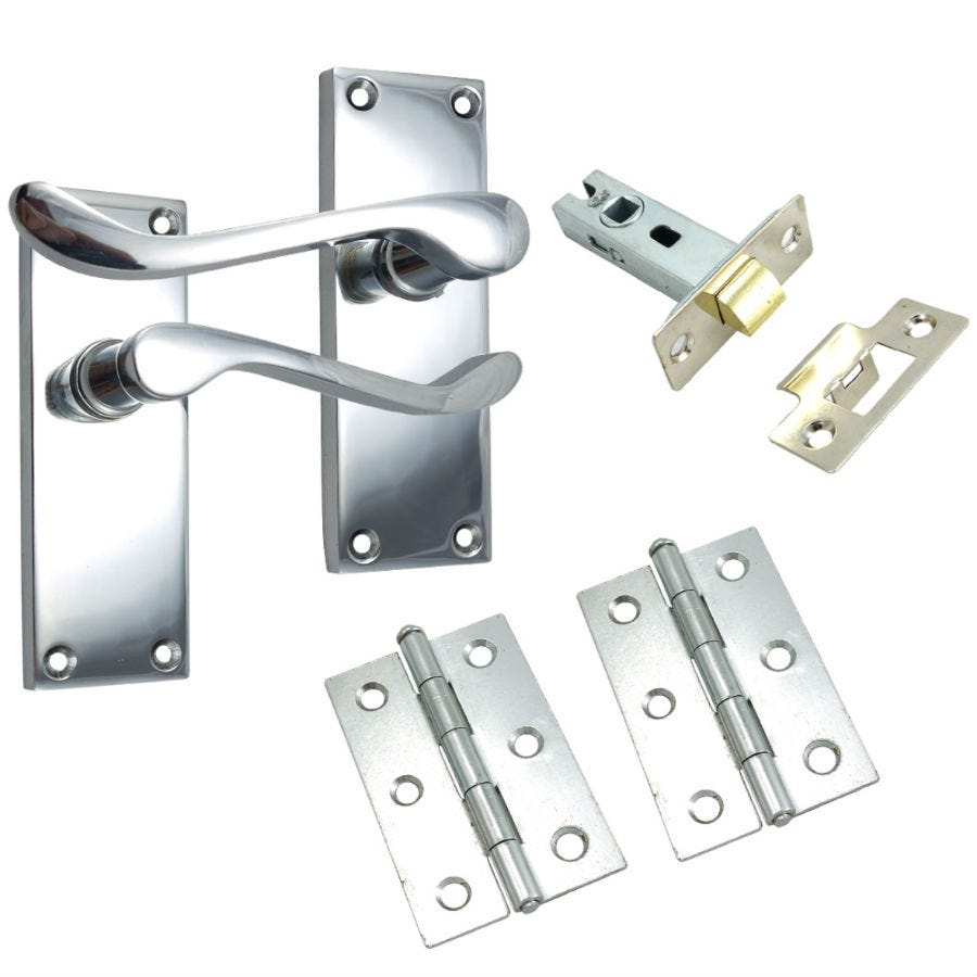 100mm Scroll Lock Set – Chrome