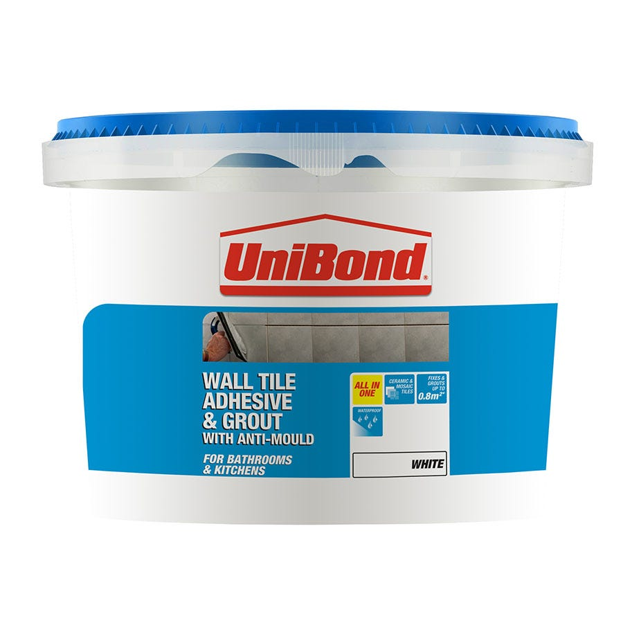 Bathroom Tile Adhesive And Grout: Unibond Quick Fix Grout Tube