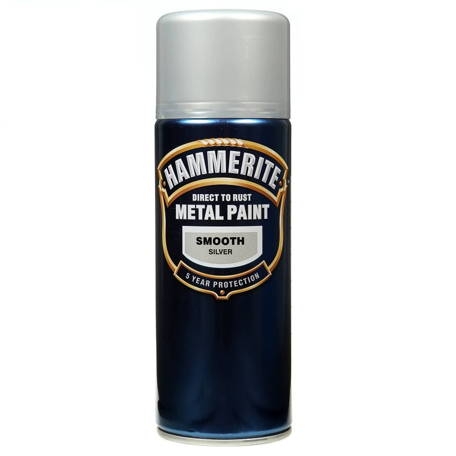 Compare prices for Hammerite Metal Paint Smooth Silver 400ml