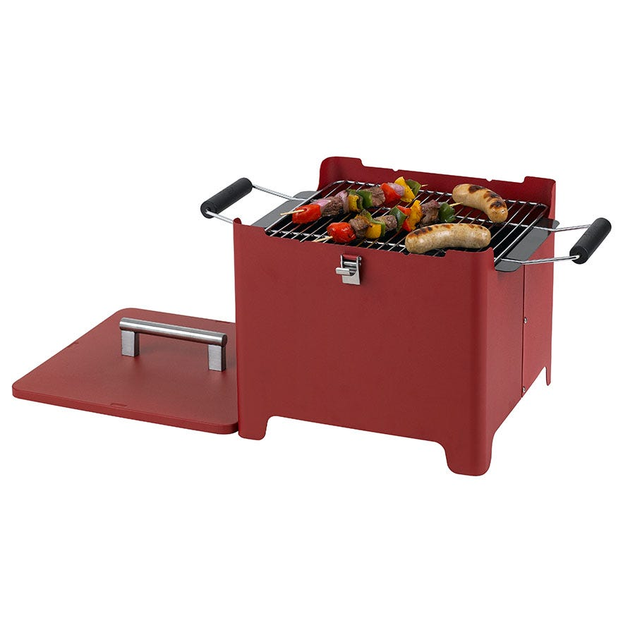 Image of Tepro Cube Chill&Grill Barbecue in Red