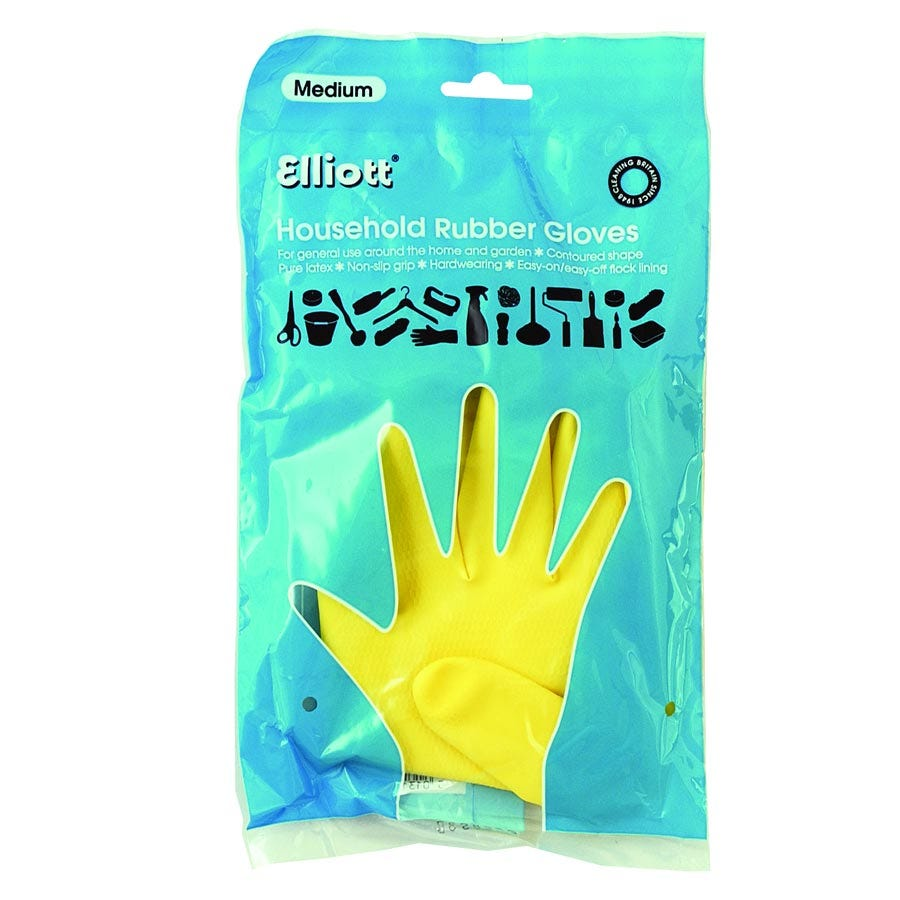 Image of Elliott Household Rubber Gloves – Medium