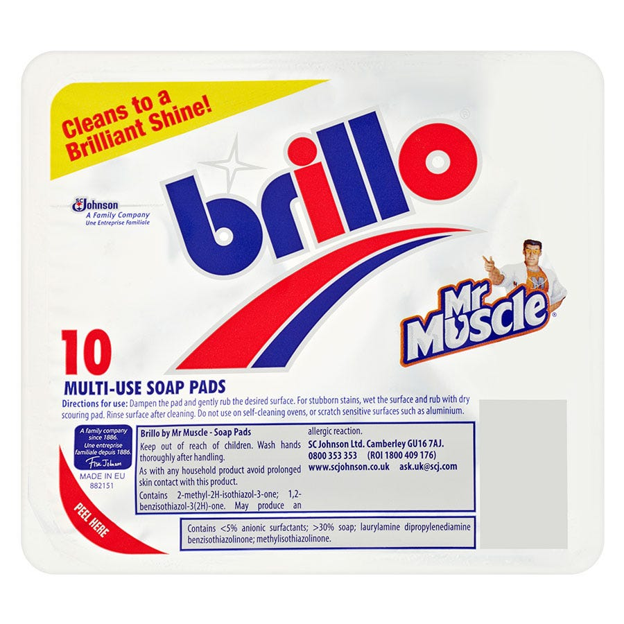Compare prices for Mr Muscle and Brillo Multi-Use Soap Pads - 10 Pack