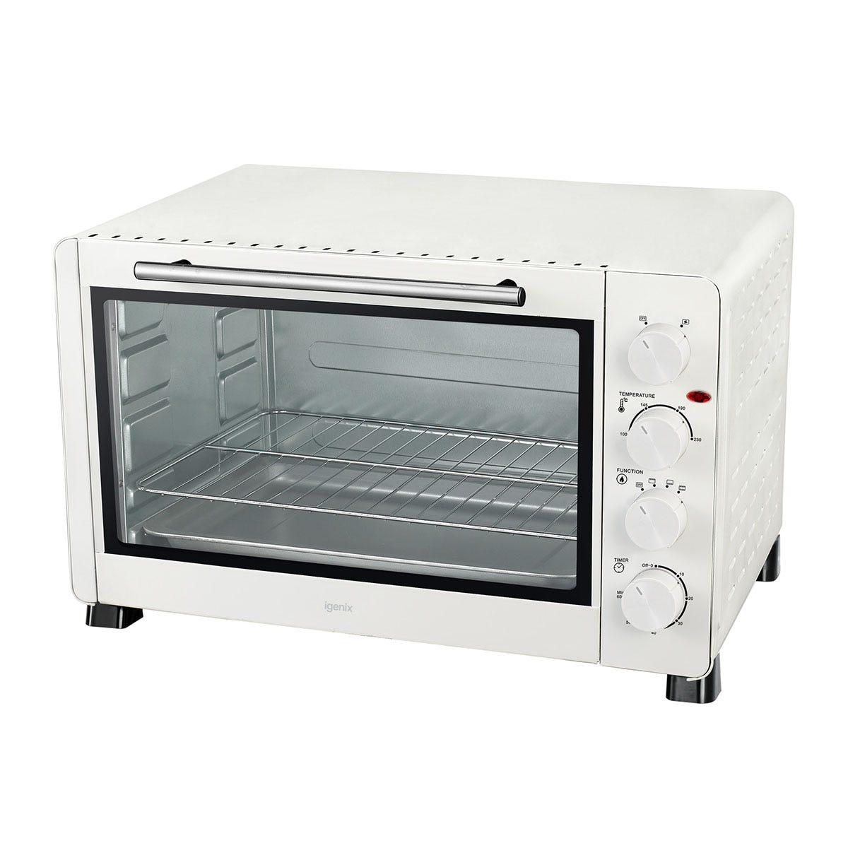 Igenix IG7161 60L 2500W Electric Mini Oven - White
