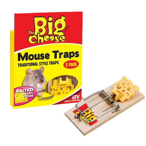 Image of The Big Cheese Baited Mousetrap - Twinpack