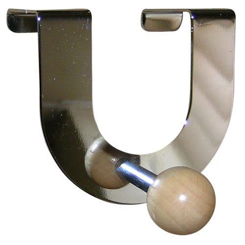 "Select Hardware Beech Ball Over The Door Hook ""U"" Shape (1 Pack)"