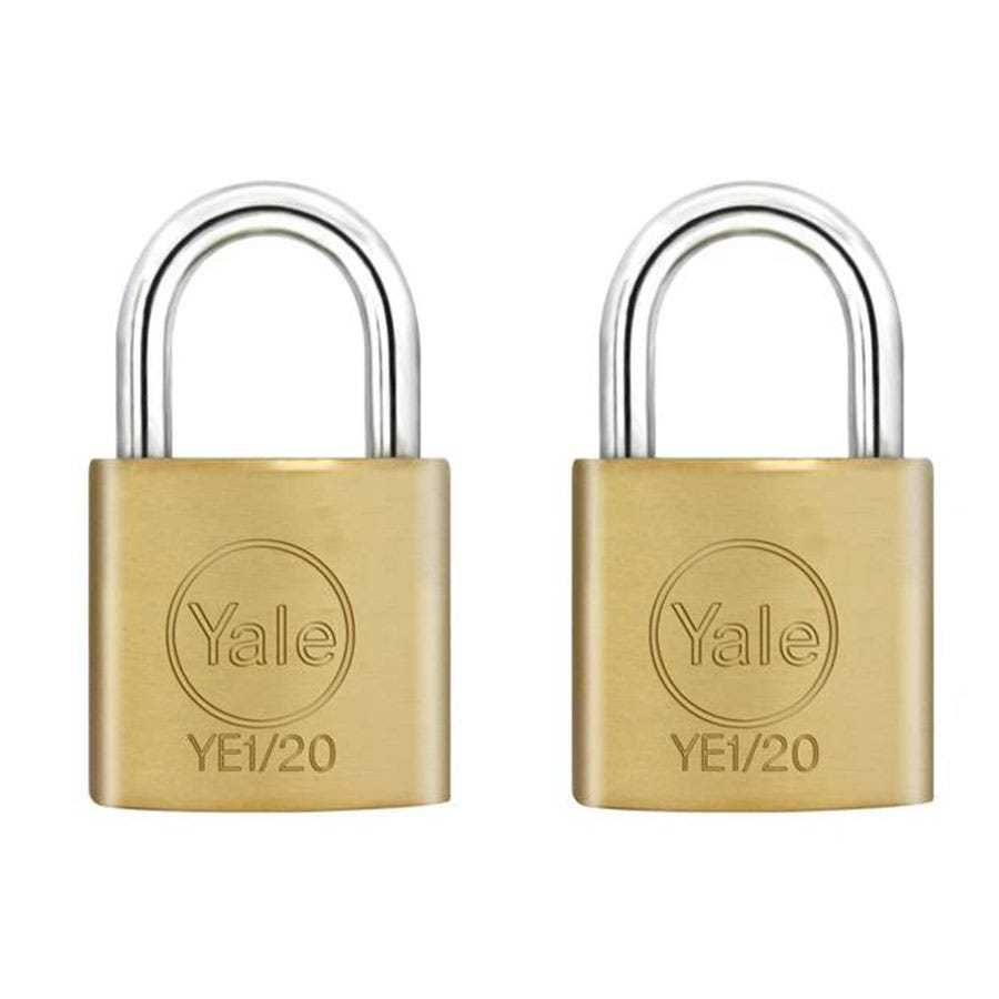 Compare prices for Yale 20mm Brass Padlocks - Pack of 2