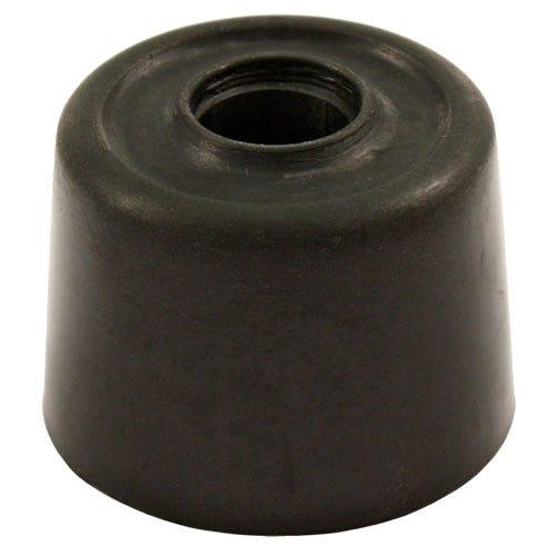 Robert Dyas/Building & Timber Products/Doors & Floors/Select Hardware Door Stops Rubber Screw-In (2 Pack) - Black