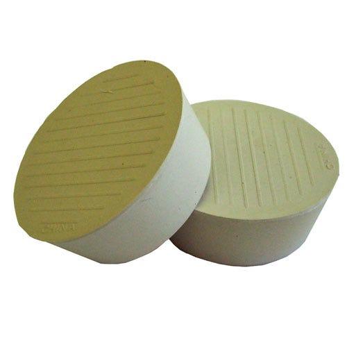 Robert Dyas/Building & Timber Products/Doors & Floors/Select Hardware Feltgard Castor Cups Rubber 44mm  (4 Pack) - Almond