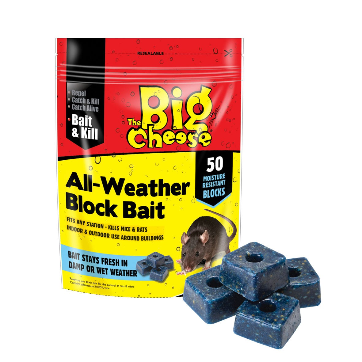 Image of The Big Cheese All Weather Block Bait - 36pk