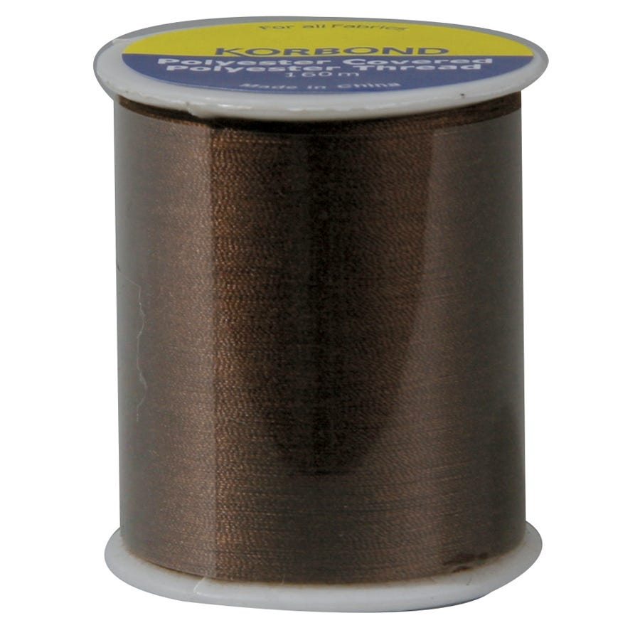 Compare prices for Korbond Thread Chestnut 160m
