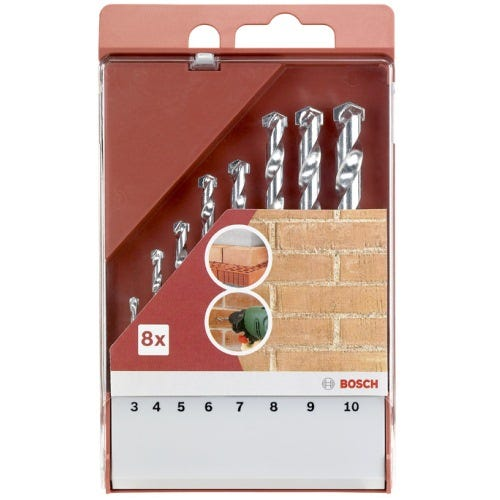 Compare retail prices of Bosch 8 Piece Masonry Drill Bit Set to get the best deal online
