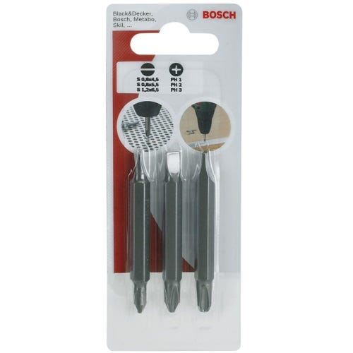 Compare retail prices of Bosch 3 Piece Double Ended Screwdriver Bit Set to get the best deal online