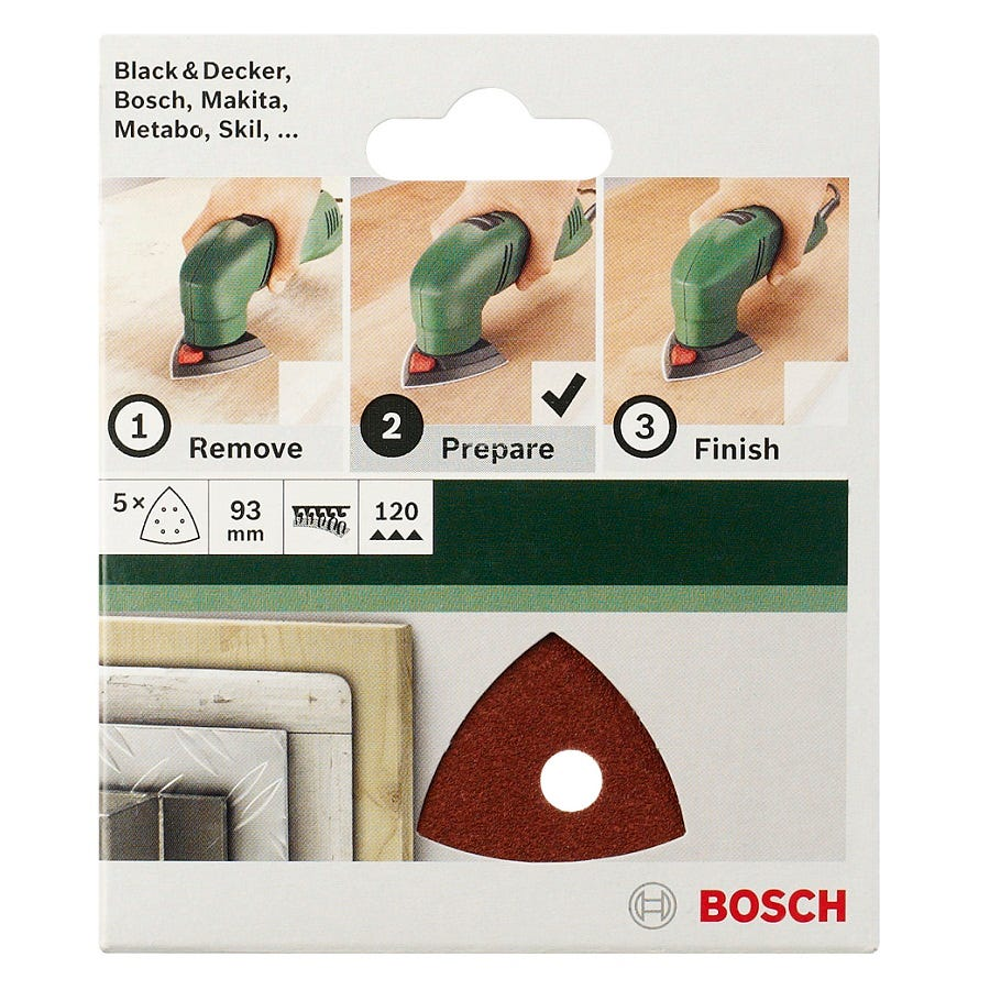 Compare retail prices of Bosch 5 Piece 80 Grit Delta Sander Sheets to get the best deal online