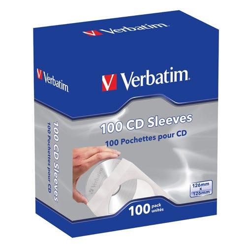 Verbatim CD Sleeves - 100pk
