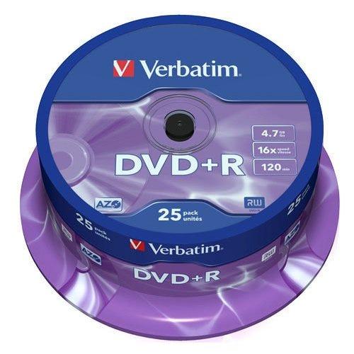Verbatim DVD+R Spindle 25pk