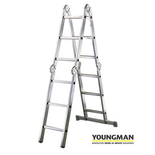 Image of Youngman Multi-Purpose 3 Way Hinged Ladder