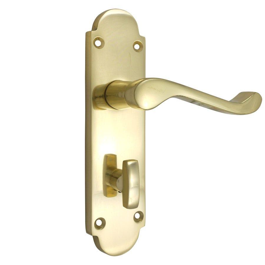 150mm Richmond Bathroom Lock - Polished Brass
