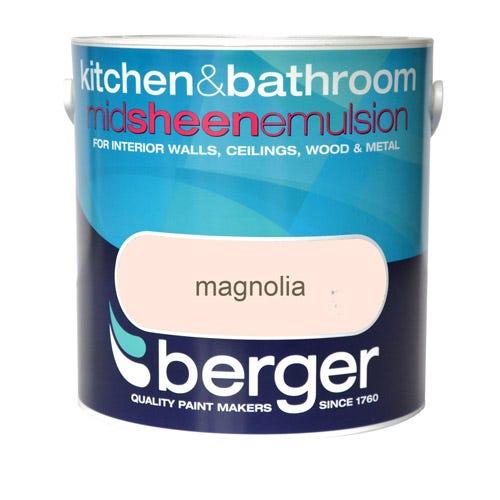 Image of Berger Kitchen & Bathroom Emulsion – Magnolia, 2.5L