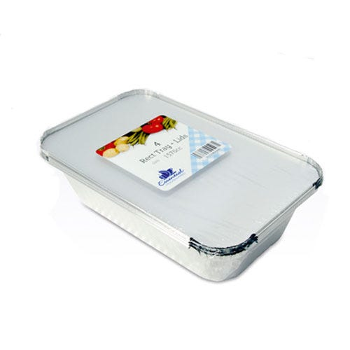Compare prices for Essential Housewares Essential Rectangular Tray with Lid