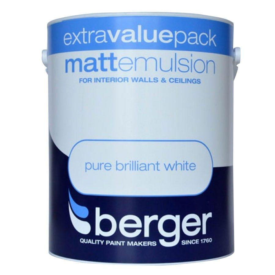 Image of Berger Matt Emulsion – Brilliant White, 3L