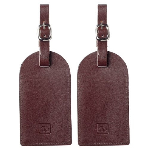 Compare prices for Go Travel Leather Luggage Tags - Set of 2