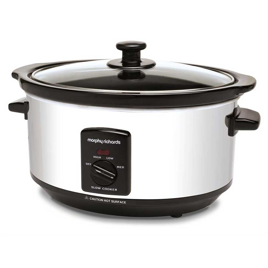 Compare prices for Morphy Richards 3.5 Litre Oval Slow Cooker - Polished Stainless Steel