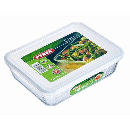 Compare retail prices of Pyrex Glass Dish with Plastic Lid - 1.5L to get the best deal online