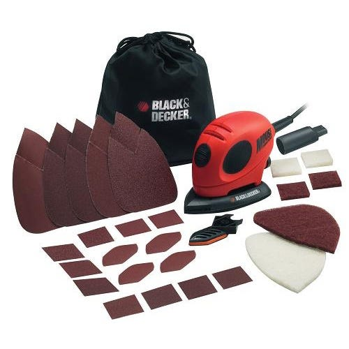 Compare prices for Black and Decker 55W Mouse Sander with Accessory Kit