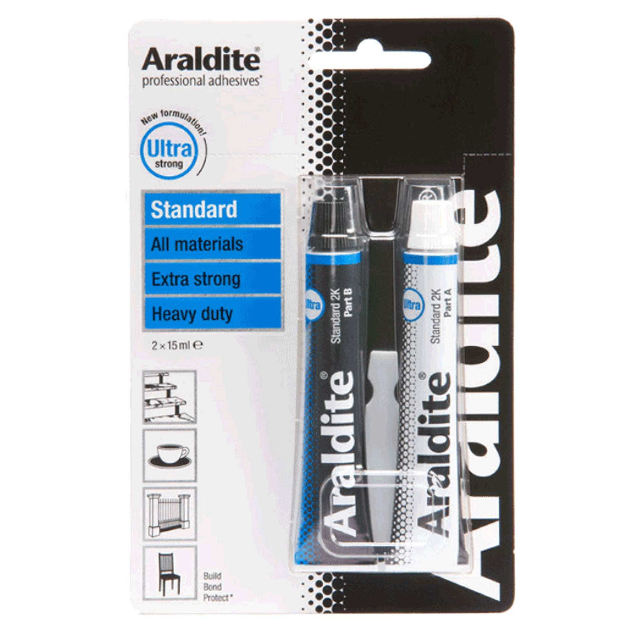 Compare retail prices of Araldite Standard Epoxy Glue - 15ml to get the best deal online