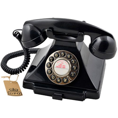 Compare retail prices of GPO Carrington Nostalgic Design Telephone - Black to get the best deal online
