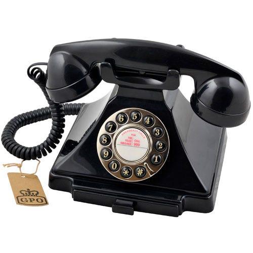 Cheapest price of GPO Carrington Nostalgic Design Telephone - Black in refurbished is £39.99