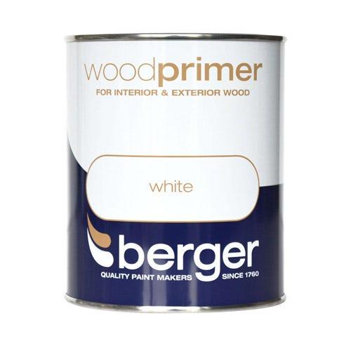 Image of Berger Wood Primer – White, 750ml