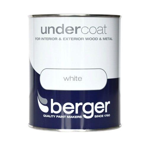 Image of Berger Wood & Metal Undercoat – White, 750ml