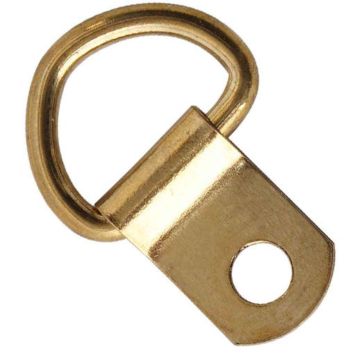 Select hardware d rings small electro brass octer £