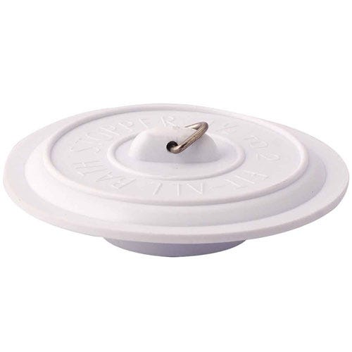Robert Dyas/Home Interiors/Bathroom/Select Hardware Universal Sink Plug Rubber (1 Pack) - White