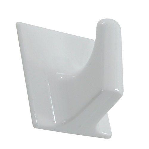 Image of Select Hardware Adhesive Large Square Hooks (3 Pack) - White