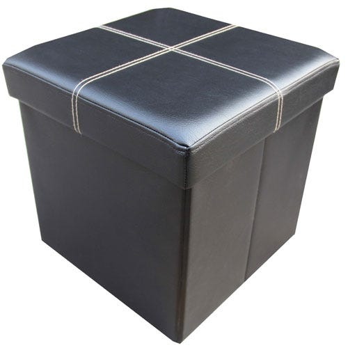 Compare prices for Packmate Faux Leather Single Seat Ottoman with Storage