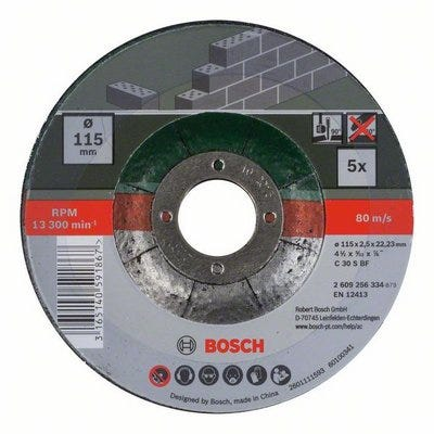Compare retail prices of Bosch 5 Piece Cutting Discs For Stone to get the best deal online