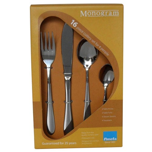 Compare cheap offers & prices of Amefa Monogram Sure 16 Piece Cutlery Set manufactured by Amefa