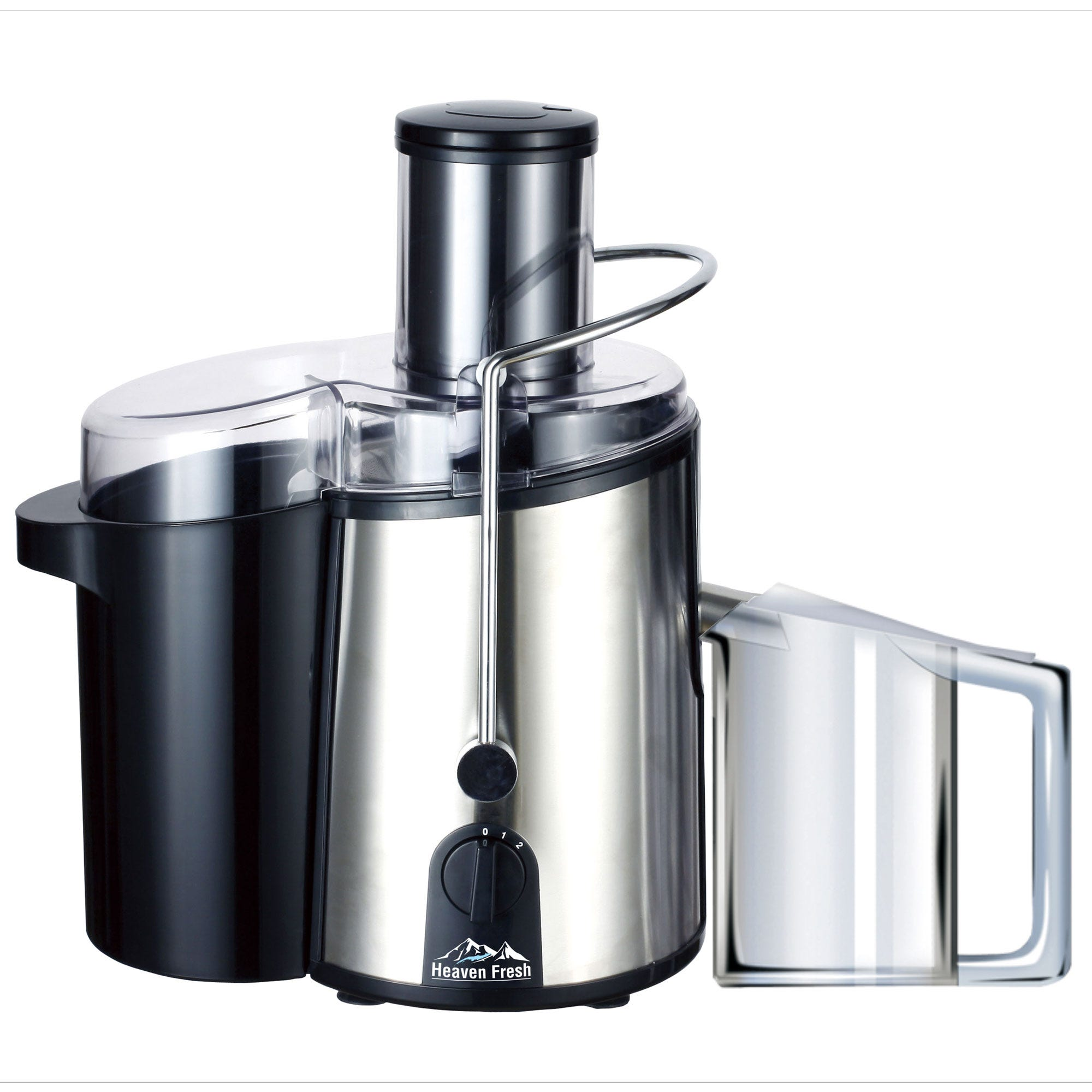 Compare cheap offers & prices of Heaven Fresh HF3022 NaturoPure Powerful Deluxe 750W Juicer - Stainless Steel manufactured by Heaven Fresh