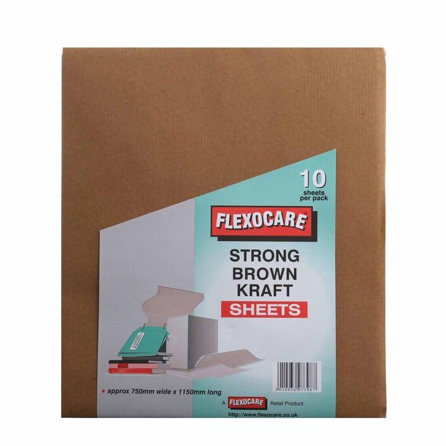 Robert Dyas/Outdoors/Garden Furniture & BBQ's/Flexocare Strong Brown Kraft Sheets – 10 Pack