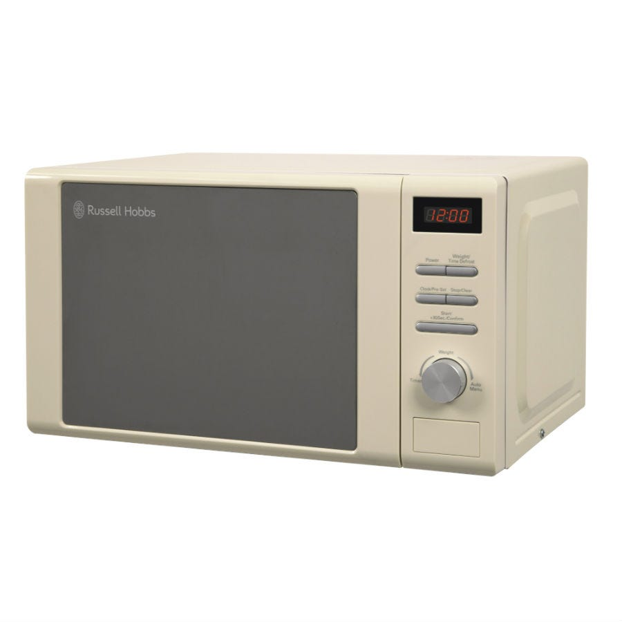 Russell Hobbs RHM2064C 20L Heritage 800W Microwave - Cream