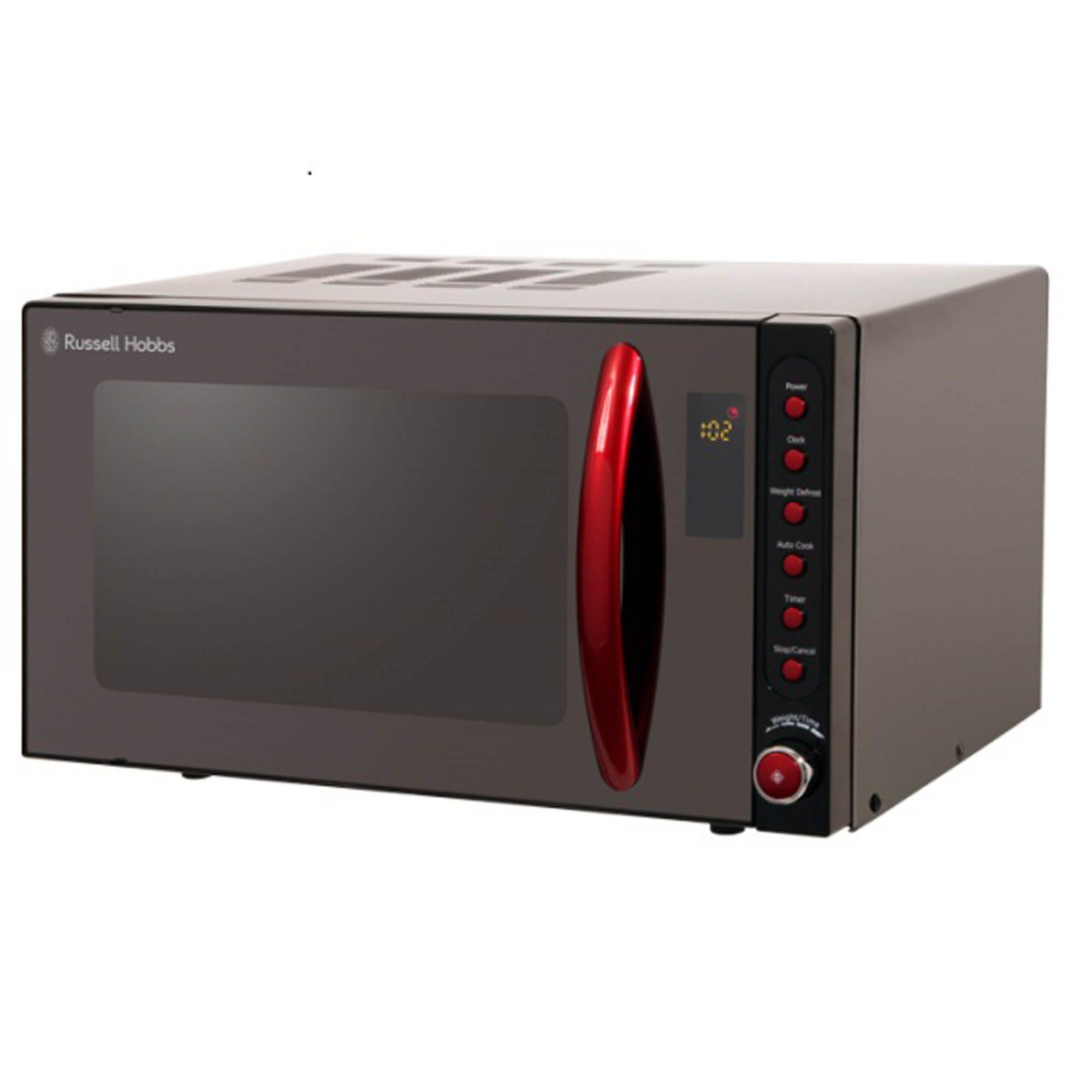 Russell Hobbs RHM2080B Digital Microwave, 20L - Black & Red