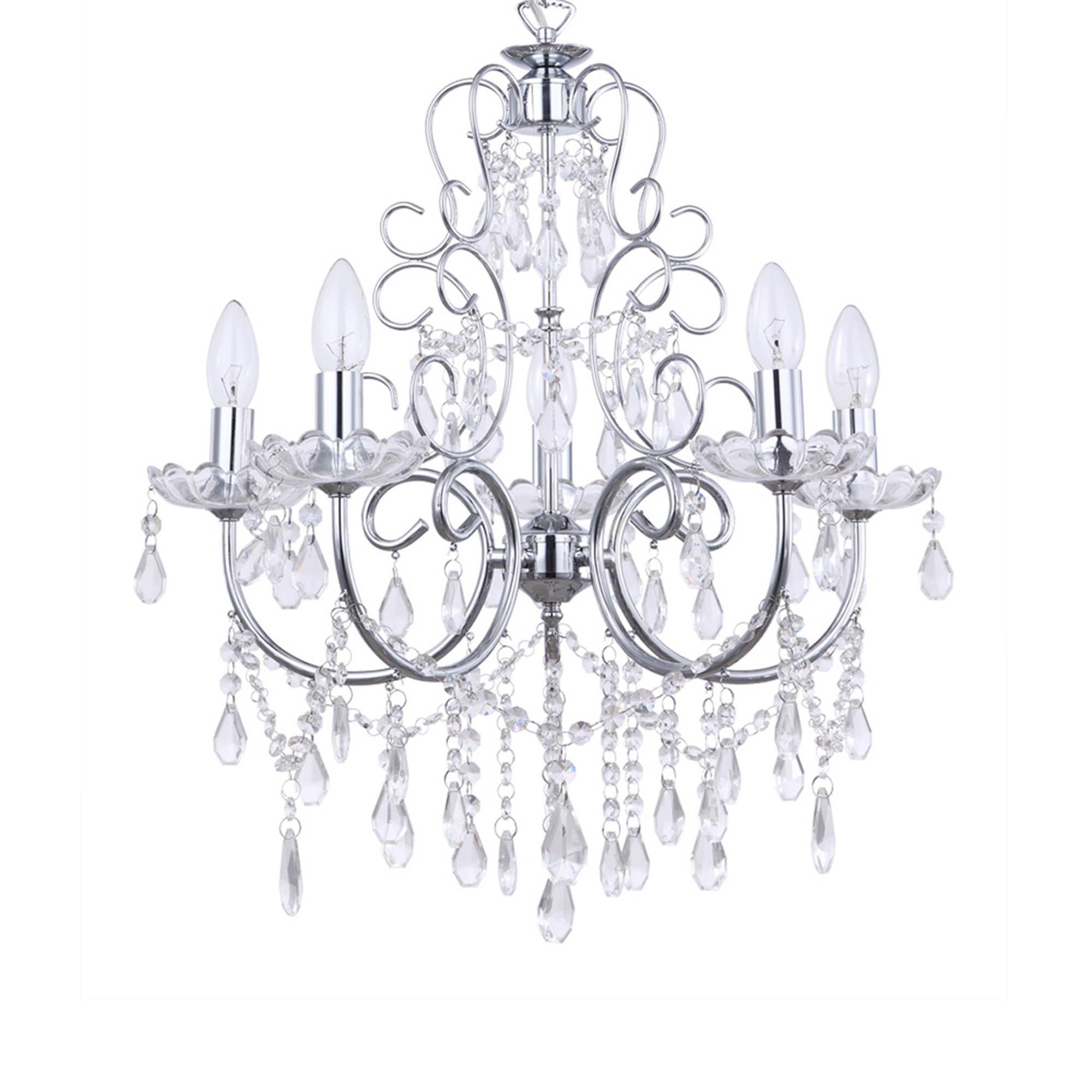 Compare prices for Litecraft Madonna Chrome Chandelier