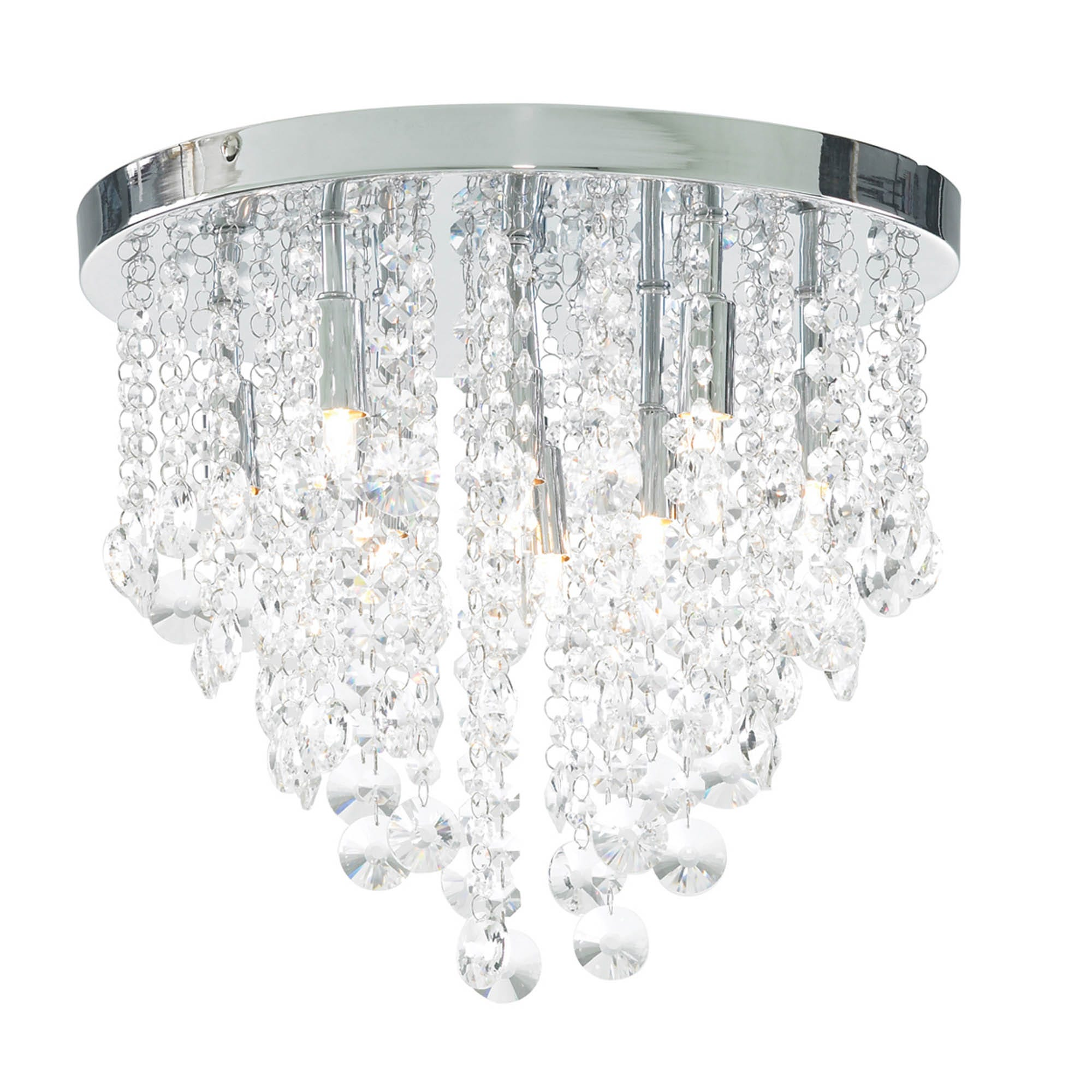 Image of Diego 9Lt Chrome Ceiling Light