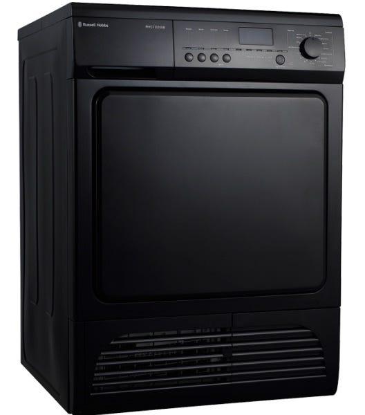Russell Hobbs Black 8kg Condensing Sensor Tumble Dryer