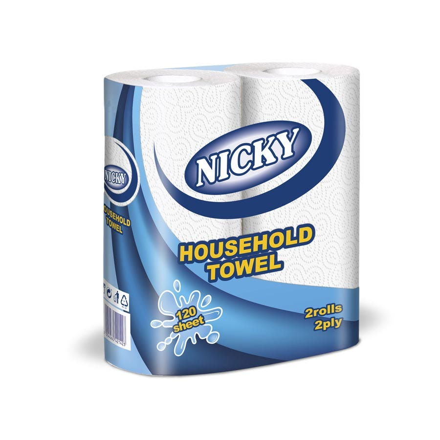 Image of Nicky 2-Ply Household Towel – 2 Pack