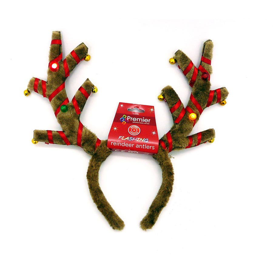 Compare prices for Premier Decorations Ltd Premier Battery Operated Flashing Antlers with Music